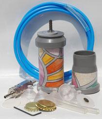 kit per solo vetro, accessori da collegare alla nostra Pompa Manuale Grande o ad una macchina o pompa per sottovuoto elettrica per fare il sottovuoto nelle bottilgie e nei barattoli di vetro