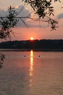 Sonnenuntergang am Simssee