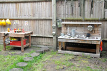 Mud Kitchen and Work Area