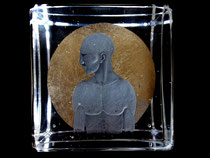 intaglio engraved by nancy sutcliffe glass engraver with moon gold leaf