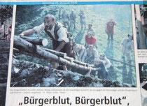 So stand es am 26. August 2000 im Patriot: Die Jungschützen erstürmten zur 800-Jahr-Feier die Stadt. Auch anlässlich des 30. Westfälischen Hansetages soll das Spektakel an der Stadtmauer wieder stattfinden.