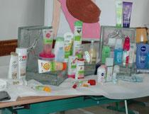 Verkaufsstand für Körperpflegeprodukte