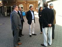 Gemeinsam mit dem Eppsteiner Stadtrat Gerd Hap und dem Stadtverordneten Marcel Wölfle wurden wir vom Geschäftsführer Dirk Mälzer durch die Produktionsanlage geführt.