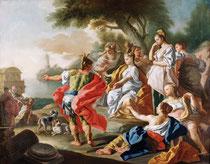 Francesco de Mura, Le départ d'Énée, huile sur toile, musée des beaux-arts de Brest.