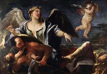 Luca Giordano, L'Histoire et le Temps, huile sur toile, musée des beaux-arts de Brest.