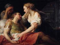 Pompeo Batoni, La Mort de Marc-Antoine, 1763, huile sur toile, musée des beaux-arts de Brest.