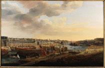 Louis-Nicolas Van Blarenberghe,  Vue du port de Brest, 1774, huile sur toile,  musée des beaux-arts de Brest.