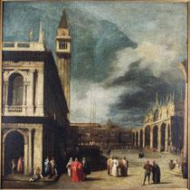 Canaletto, Venise, la Place Saint-Marc, huile sur toile, 18e siècle.
