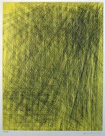 Hans Hartung, sans titre, 1977, eau-forte. Collection artothèque du musée des beaux-arts