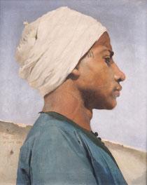 Paul Leroy, Portrait d'un jeune guide arabe, 1884, huile sur toile, collection musée des beaux-arts de Brest métropole.