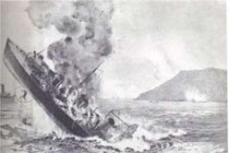 "The sinking of the ""Furor"""