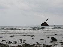 L'épave du cuirassé espagnol Oquendo coulé près de Santiago de Cuba
