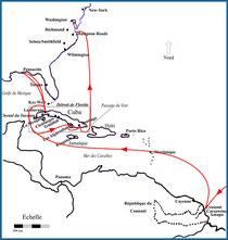 Itinerary of the Némésis, Cuba, 1898