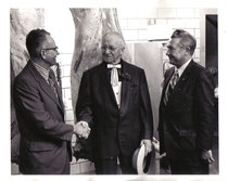 "(Left) ODA Director Gene Abercrombie, (Center) John ""Butch"" Stehlin, (Right) Dr. Harry Goldstein, Chief of ODA Meat Inspection Division"