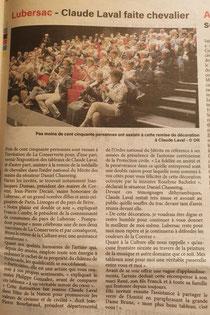 Journal La Vie Corrézienne du 24 septembre