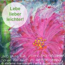 Leichtigkeit, Stefanie Marquetant, art & angel coaching