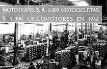 Imágen histórica de la fábrica en 1966