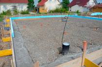 Vorbereitung für Bodenplatte