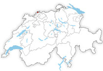 Standort von Basel in der Schweiz auf der Karte