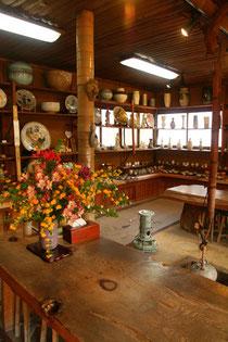 囲炉裏のある展示室