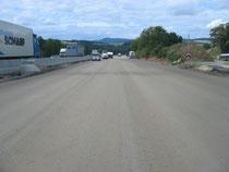 Autobahn A 7 - fertige Verfestigung