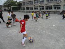 フットサルでサッカー技術も向上
