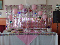 Decorated food table