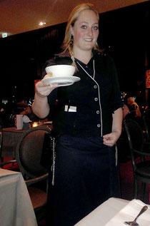 Amy Darley( Hofa drittes Ausbildungsjahr) im Van der Valk Hotel in Sneek