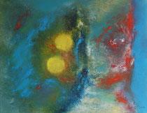Der springende Punkt, Öl auf Leinwand von Jana Paul