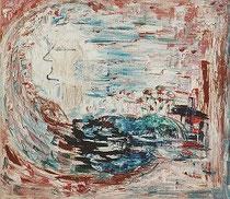 Windsbraut, Jana Paul, Öl auf Leinwand