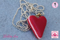 Collier Coeur Rouge Amour Rubis
