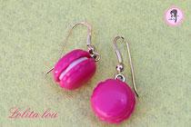 Boucles d'oreilles Macaron Forever framboise