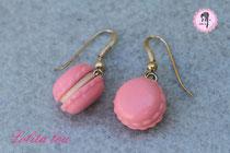 Boucles d'oreilles Macaron Forever rose