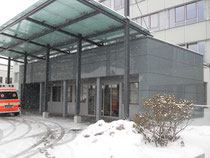 Glaspaneele im Eingangsbereich