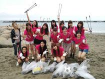 リリマリ ビューティー海岸清掃