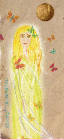 Schmetterlingsfrau aus meinem Astrosong-Kalenderblatt Juni - Zwillinge