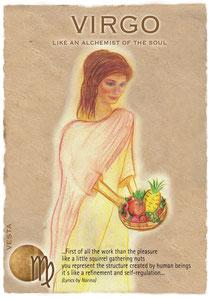 Postkarte Virgo