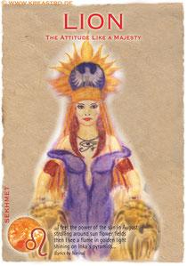 Postkarte Lion