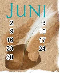 Helm des Götterboten Hermes aus meinem Astrosong-Kalenderblatt Juni - Zwillinge