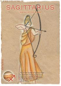 Postkarte Sagittarius