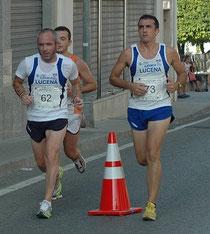 Juan Valera a la izquierda, junto a David Dorado, en la prueba de Baena disputada en el pasado mes de septiembre.