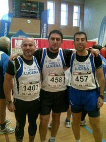 Paco Buendía, Antonio Torralbo y Daniel Zamorano,ante el reto de completar las ocho medias maratones de las capitales andaluzas en un año.