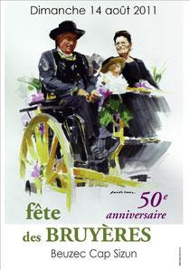 Affiche des 50ans de la fête des Bruyères  Réalisé par Fanch Moal