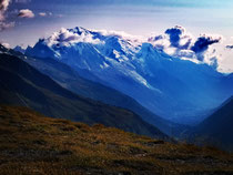 Mont Blanc unten im Tal Chamonix