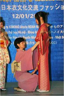 きものアトリエのあ 日本衣文化交流ファッションショー写真