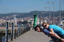 Sommerliche Temperaturen in Vigo