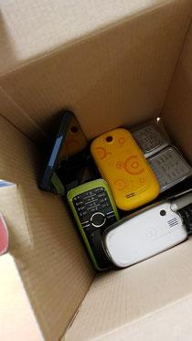 Alte Handys für ZAPUH
