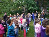 Kastanienhofkinder bedanken sich beim Transition-Team