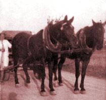 Getränkeauslieferung im Jahr 1943