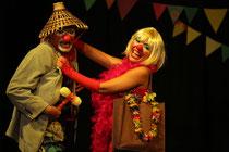 """Teatro la clowndelaria presenta a Pamohña , Fifiasco Y Falcao en:  """" animal Chandet"""""""